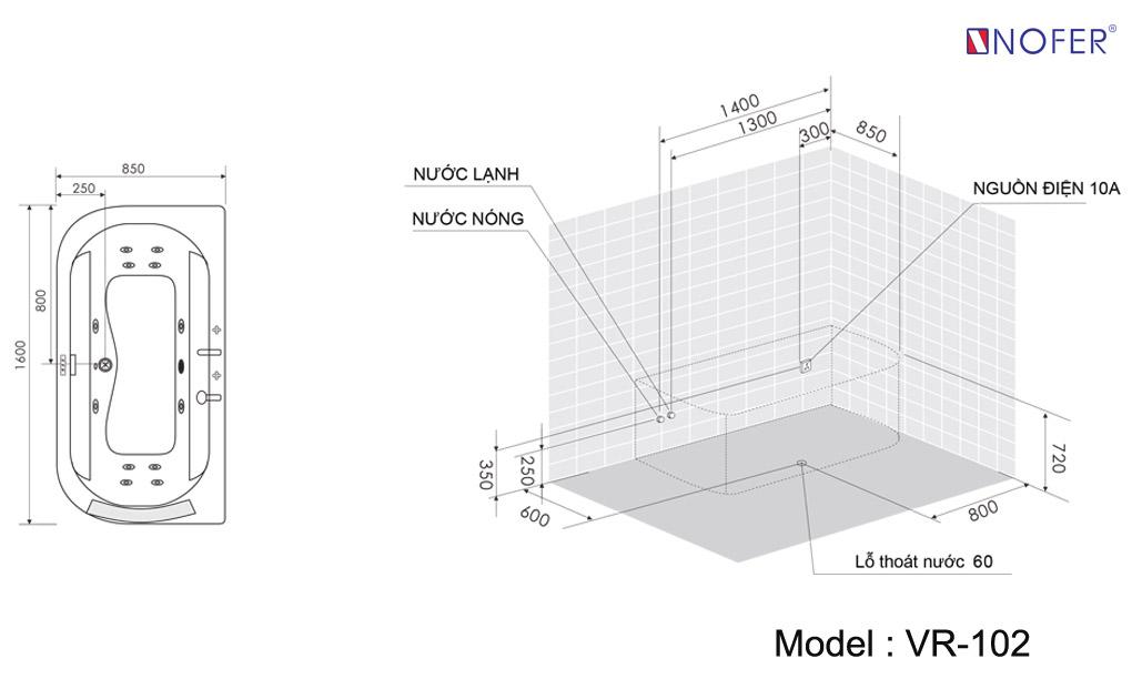 Bảng vẽ kỹ thuật VR-102