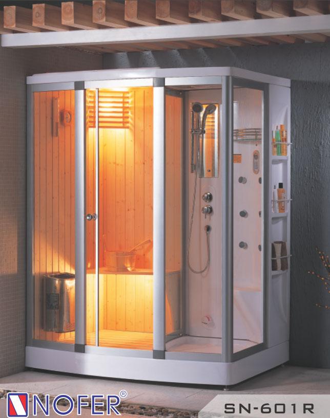 Phòng xông hơi đa năng tích hợp cả tính năng xông hơi khô và xông hơi ướt.