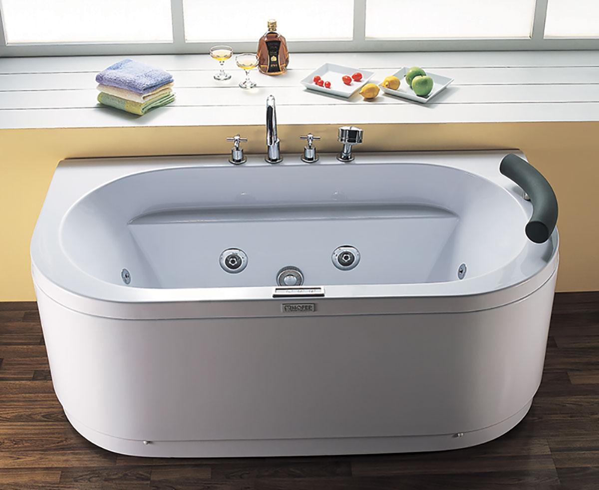 Bồn tắm massage Nofer được thiết kế các mắt sục khí ở thành bồn, tạo tác dụng xoa bóp cơ thể.