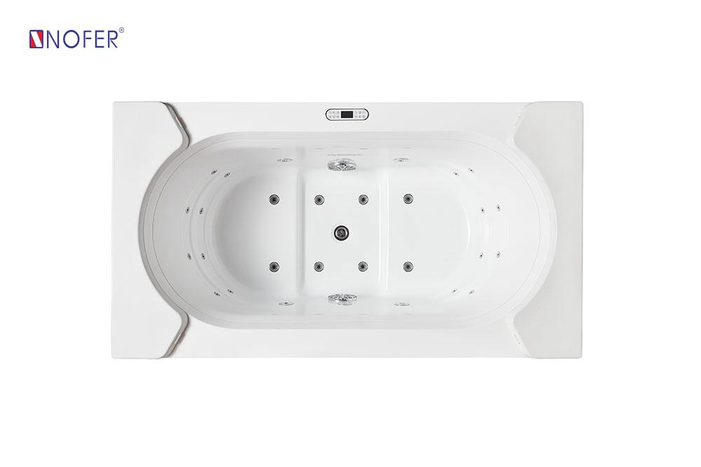 Phía bên trong của bồn tắm massage Nofer NG - 1312.