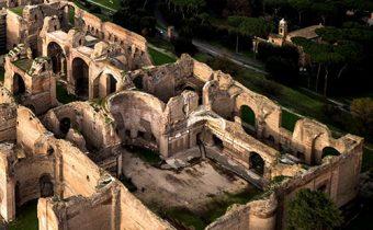 Quang cảnh công trình nhà tắm công cộng Caracalla.