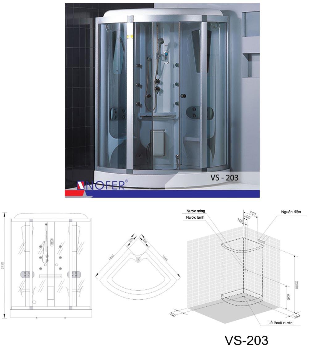 Bảng vẽ kỹ thuật phòng xông hơi VS-203