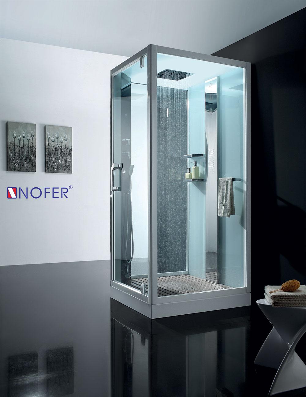 phòng xông hơi cao cấp màu trắng với kích thước 1000x1000x2200