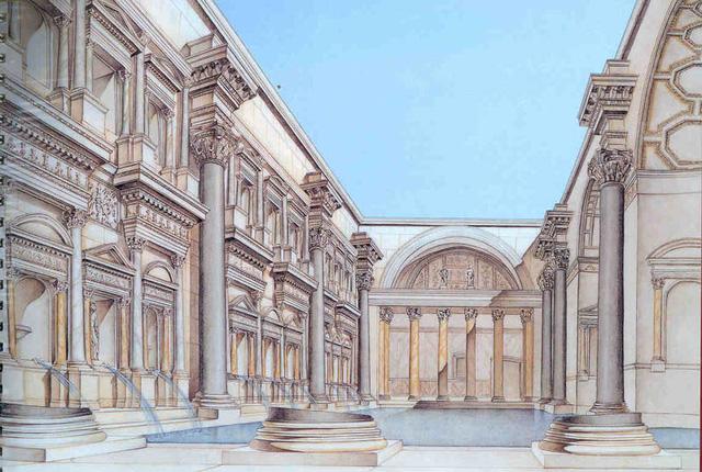 Mô hình nhà tắm Caracalla - La Mã