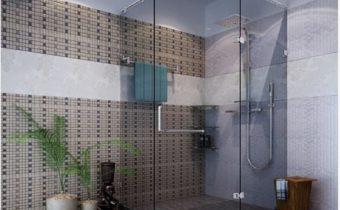 Phòng tắm vách kính 135 độ