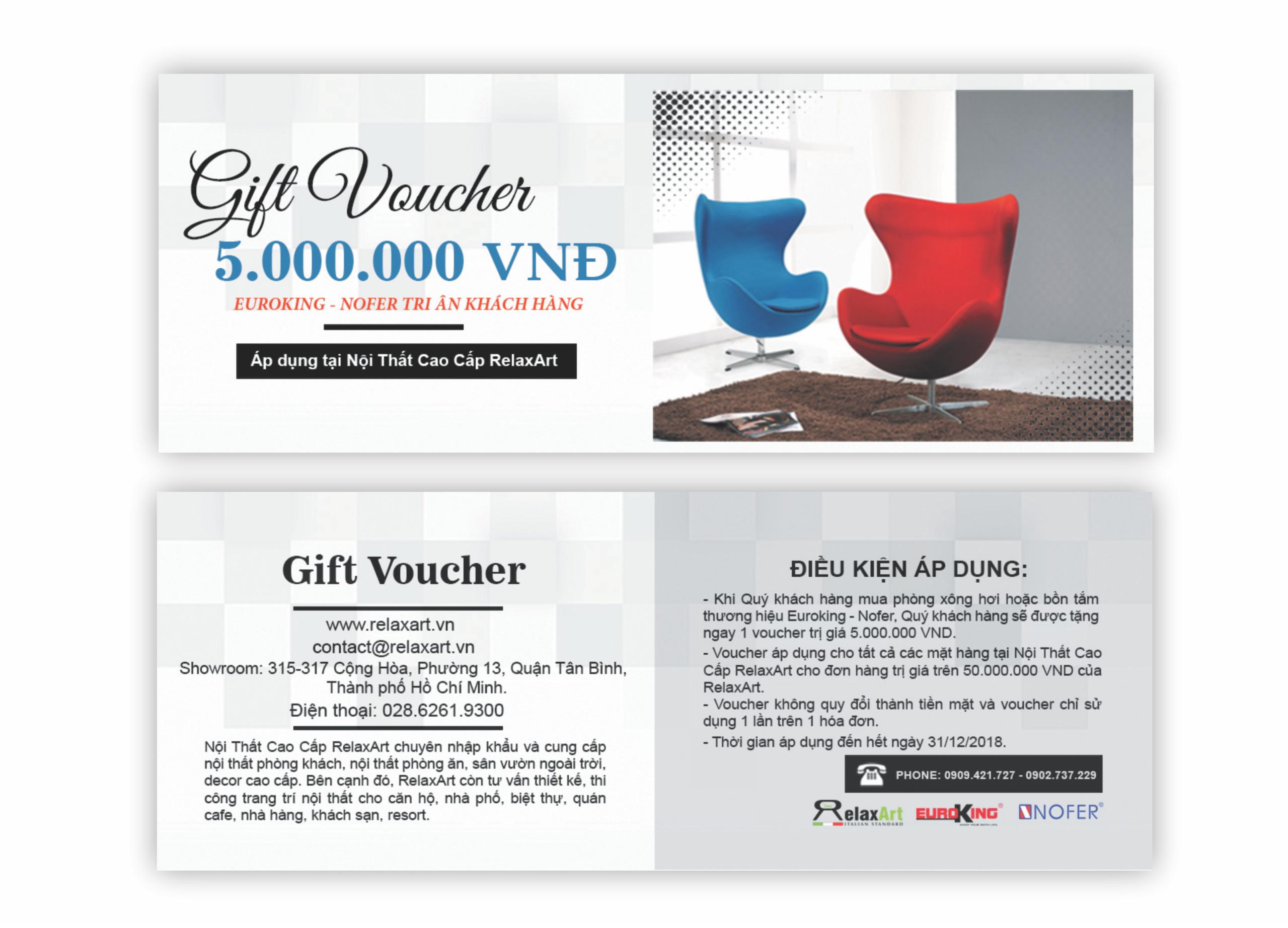 Gift Voucher 5.000.000 vnđ