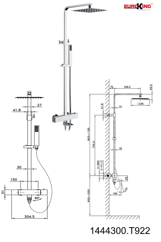 Bảng vẽ kỹ thuật EU-1444300T922