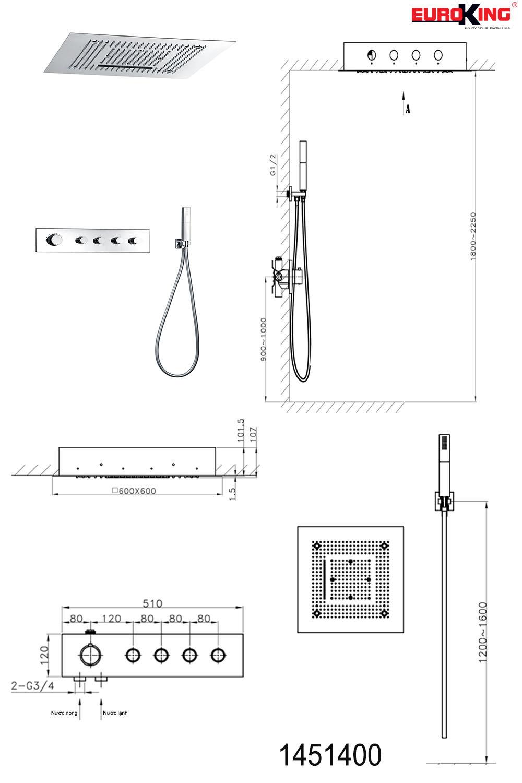 Bảng vẽ kỹ thuật Sen EU-1451400