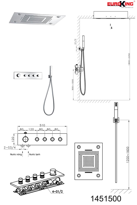 Bảng vẽ kỹ thuật Sen EU-1451500