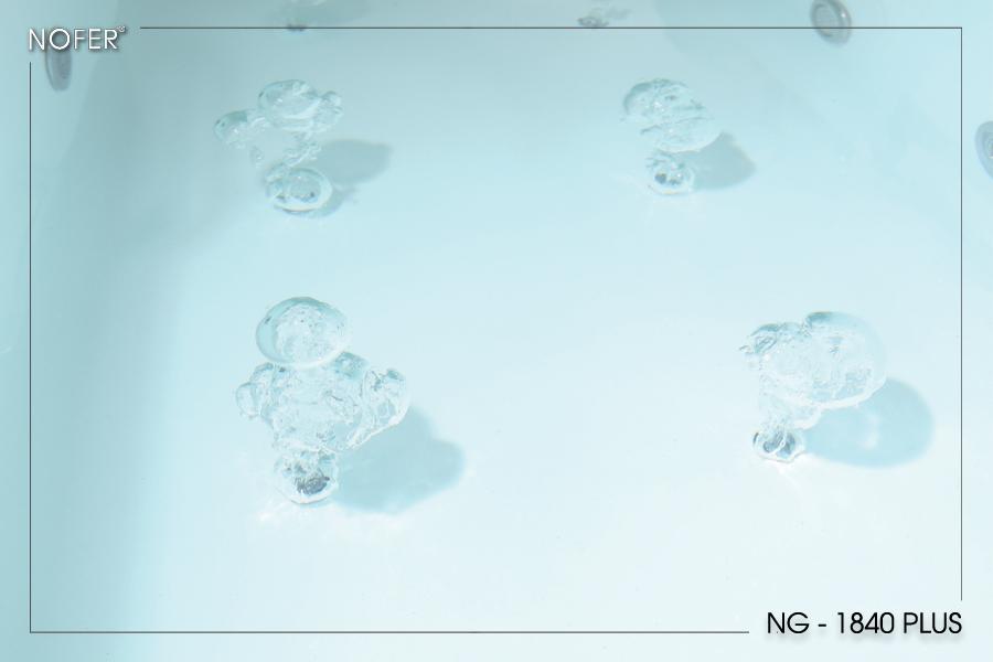 Hệ thống sủi bọt + đèn LED của bồn tắm NG-1840 PLUS