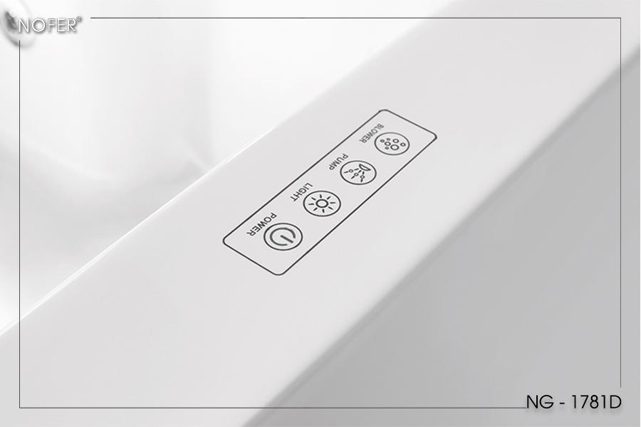 Bộ điều khiển hiện đại của bồn tắm massage NG-1781D