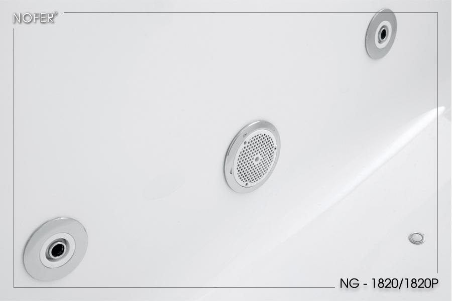 Hệ thống hút nước và sục sủi bên trong lòng bồn tắm massage NG-1820/1820P