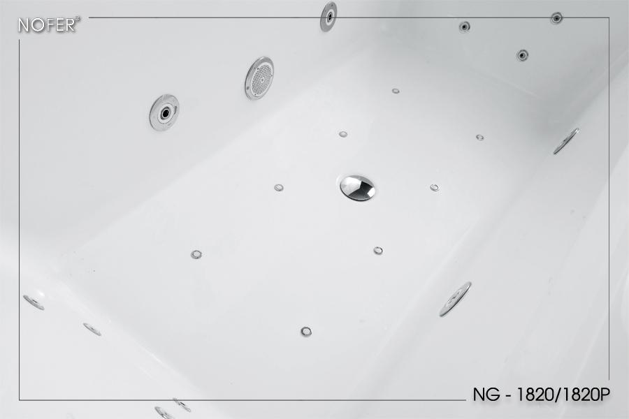 Phía trong lòng bồn tắm massage NG-1820/1820P