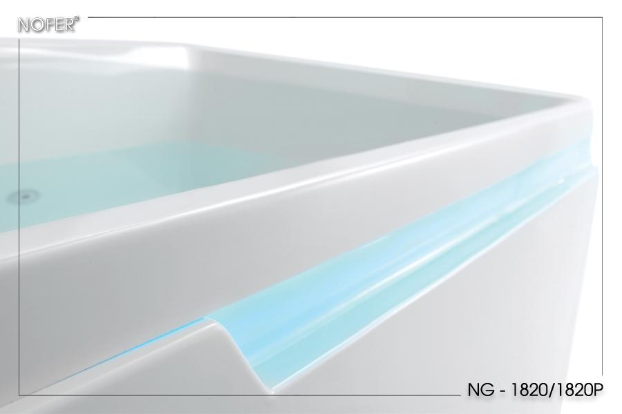 Đèn LED ở 2 đường thành bồn tắm NG-1820/1820P
