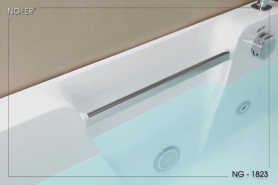 Tay vịn bằng thép không gỉ #304 của bồn tắm massage NG-1823