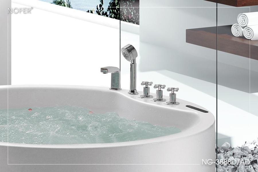 Hệ thống sen tay, vòi cấp nước và các nút điều chỉnh