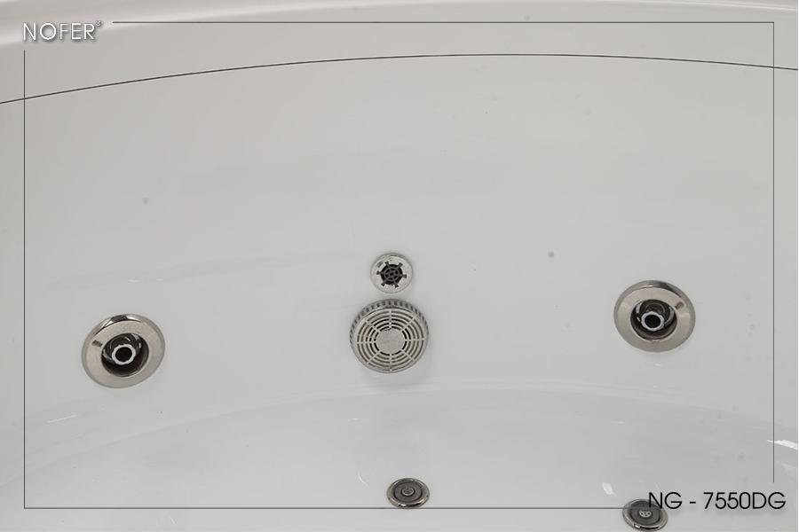 Hệ thống xả tràn của bồn massage NG-7550DG