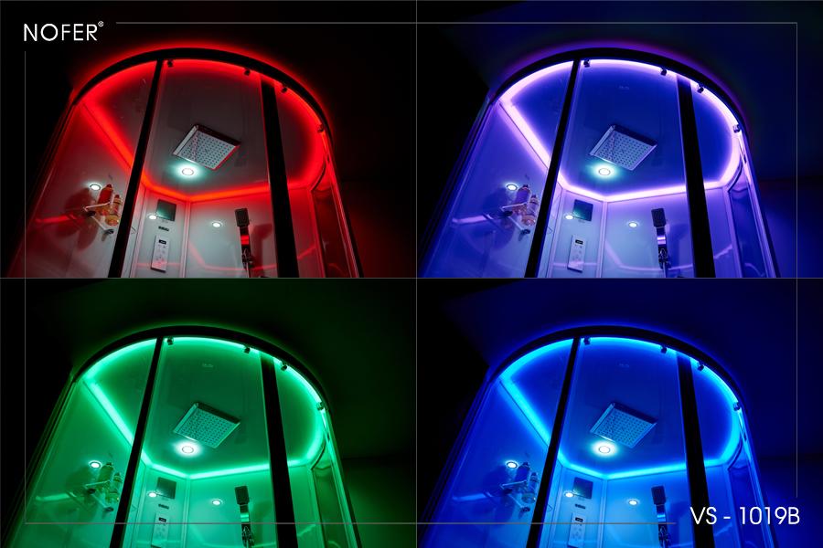Hệ thống đèn LED sắc màu từ phòng xông